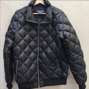 Patagonia black bomber jacket